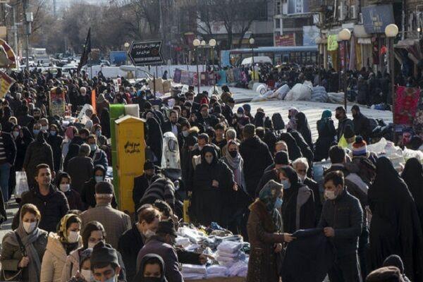 ازدحام جمعیت و شلوغی بازار تبریز در آستانه بهار