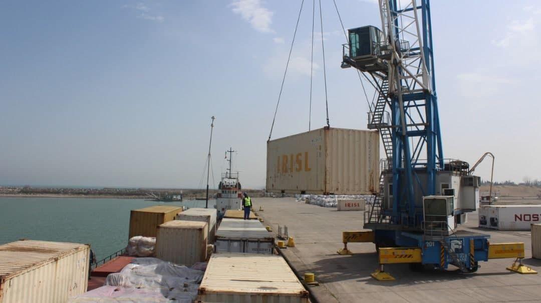 صادرات نخستین محموله کانتینری از بندر فریدونکنار به قزاقستان