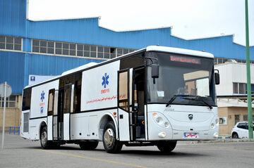 تولید انبوه اتوبوس آمبولانس ایرانخودرو دیزل