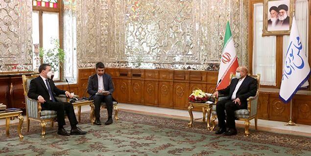 تاکید رئیس مجلس بر تعمیق همکاری های صنعتی، تجاری و کشاورزی ایران و صربستان