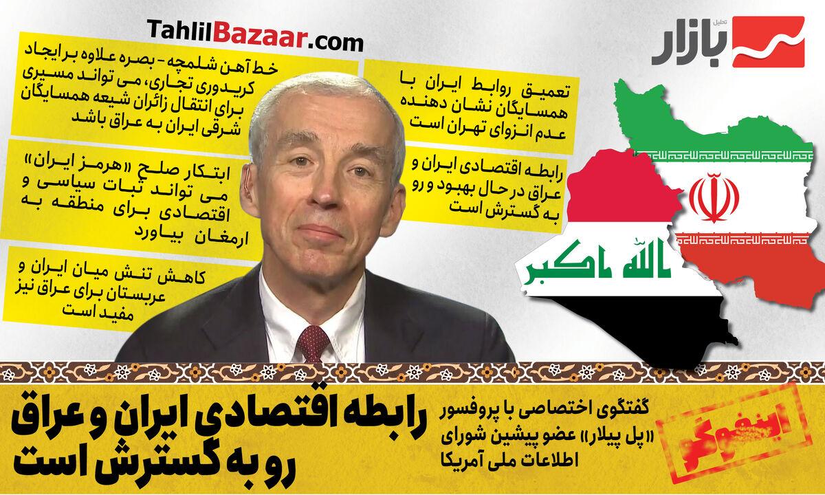 رابطه اقتصادی ایران و عراق رو به گسترش است
