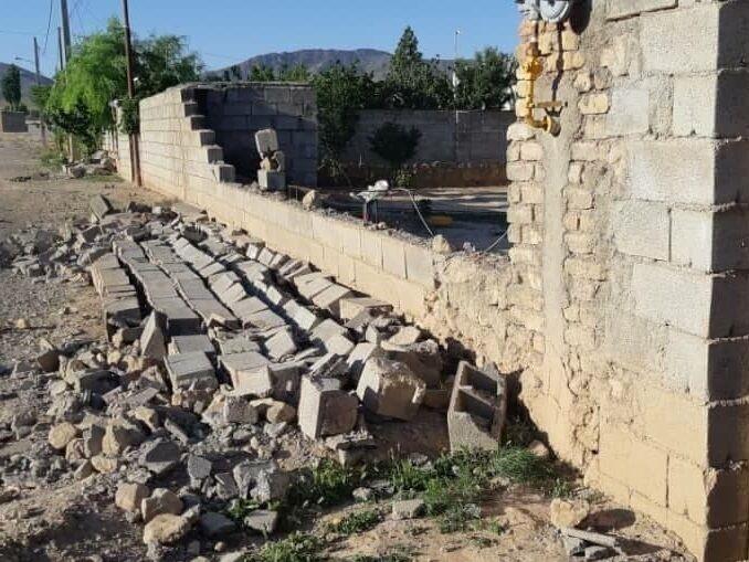ریزش کوههای گمارون در گناوه بر اثر زلزله ۵.۲ ریشتری
