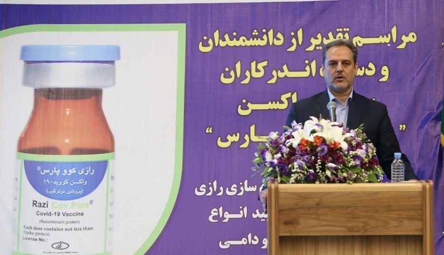 تجلیل وزیر جهاد کشاورزی از دست اندرکاران ساخت واکسن «رازی کوو پارس»