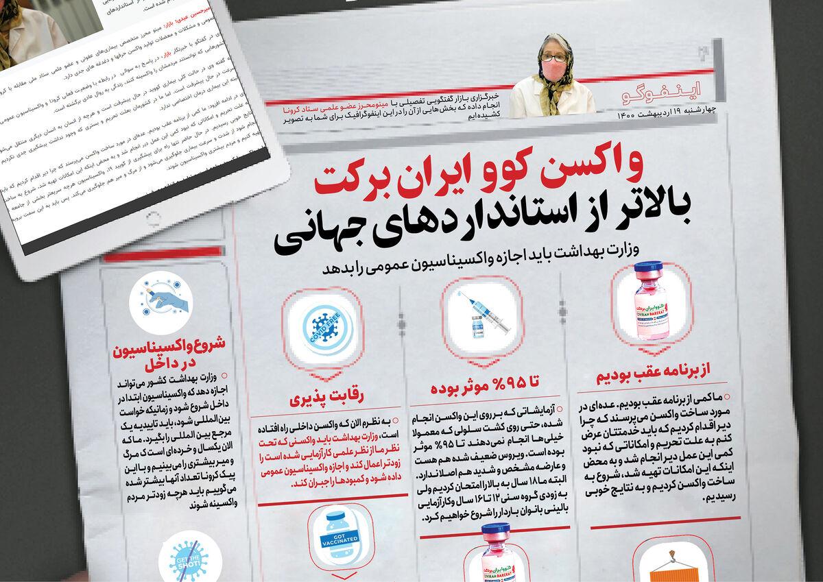 واکسن کوو برکت ایران بالاتر از استانداردهای جهانی/ وزارت بهداشت باید اجازه واکسیناسیون عمومی را بدهد