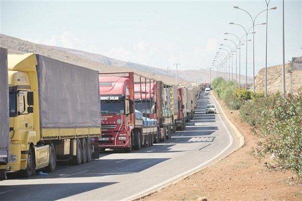 افزایش تردد کامیون های باری از پایانه های مرزی جلفا و نوردوز