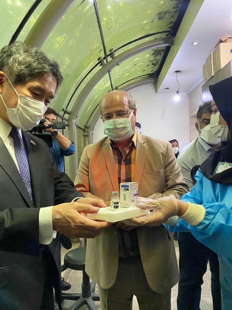 ورود دو محموله واکسن اهدایی ژاپن به ایران در روز جمعه